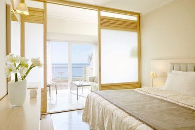 Contemporary design and luxury have a major role on Superior Double Sea View rooms along with a stunning sea view.