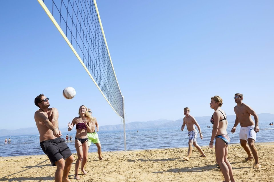 Beach volley at Capo Di Corfu.