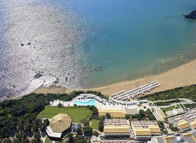 In a magical location upon one of the best beaches of Corfu, Kontogialos Beach, the journey of your dreams is illuminated by the famous Greek sun & has the smell of the sea breeze at Pelekas Monastery.